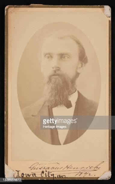 Portrait of Gustavus Detlef Hinrichs , 1872. Artist Isaac Augustus Wetherby.