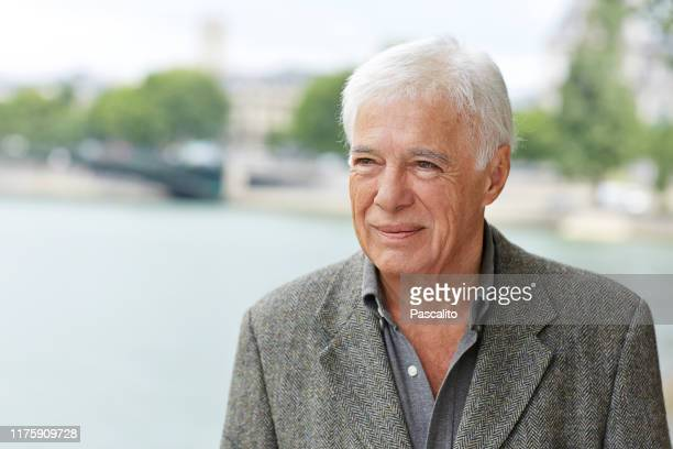 Portrait of Guy Bedos on the Ile Saint Louis in Paris July 2015