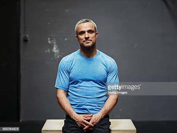 Portrait of gymer looking at camera
