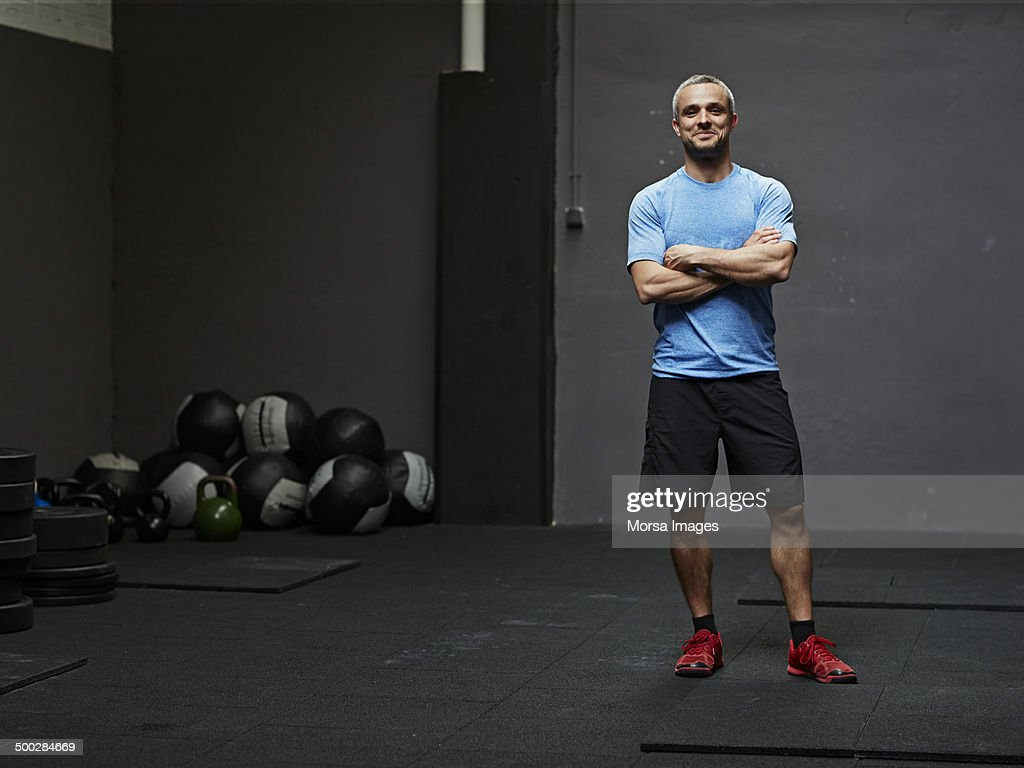 Portrait of gymer smiling at camera : Stock Photo