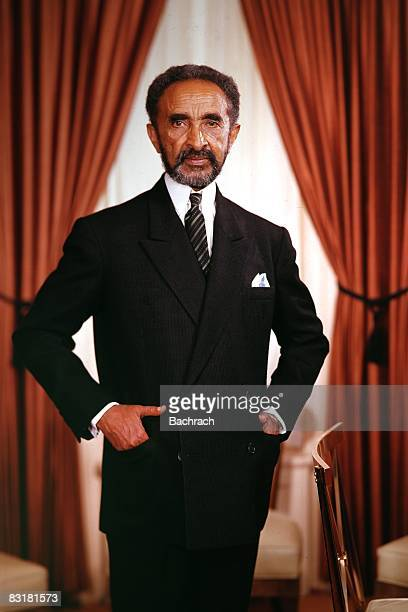 Portrait of Haile Selassie I Emperor of Ethiopia from 1930 1972 New York 1962
