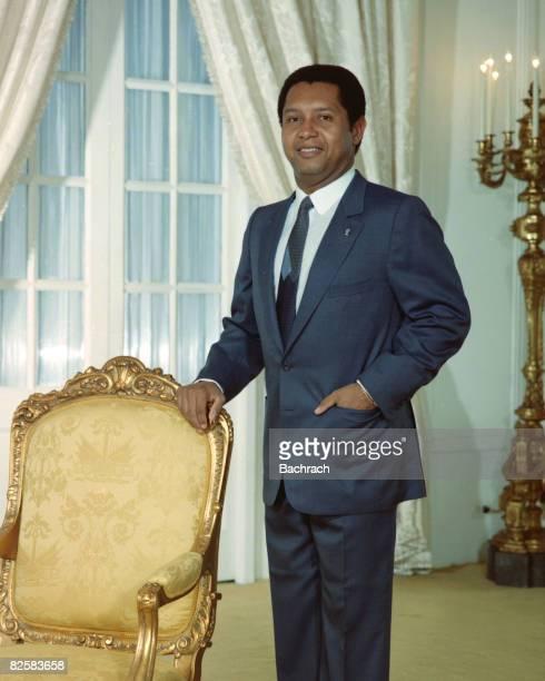 Portrait of Haitian President Jean-Claude Duvalier, Port au Prince, Haiti, 1984. Known as 'Baby Doc,' Duvalier ruled Haiti from 1971 to 1986, when...