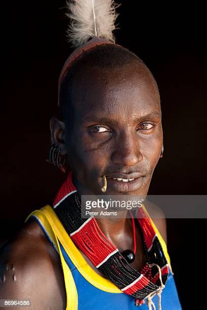 Portrait of Hamer man, Omo Valley, Ethiopia