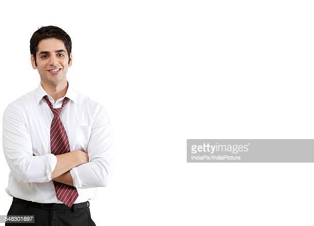 Portrait of handsome businessman smiling