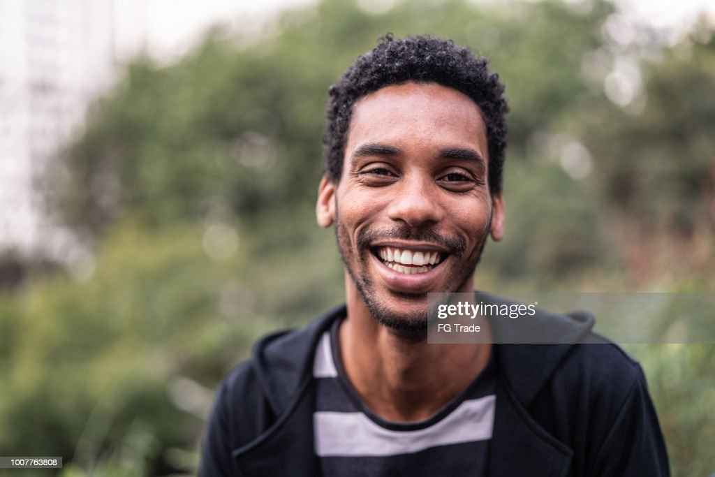 Portrait of handsome latino african man : Stock Photo