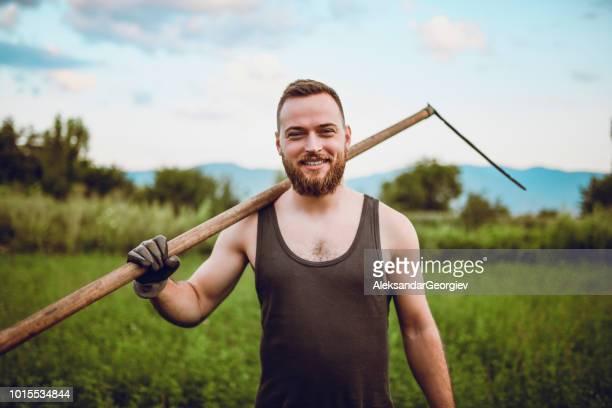 Portrait Of Handsome Male Agricultural Worker