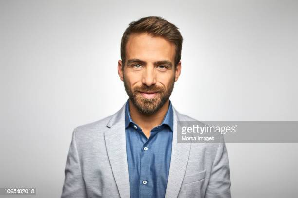 portrait of handsome young businessman - blazer jacket stock pictures, royalty-free photos & images