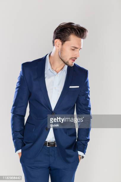 portrait of handsome young businessman - handsome people stock pictures, royalty-free photos & images