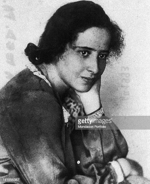 A portrait of Hannah Arendt the German philosopher and historian naturalized as American citizen 1920s