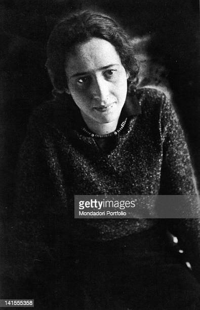 A portrait of Hannah Arendt the German philosopher and historian naturalized as American citizen 1930