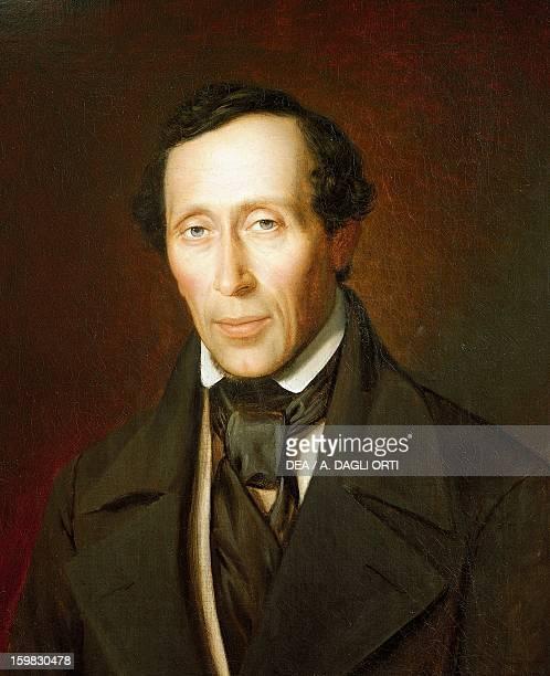 Portrait of Hans Christian Andersen Danish writer and poet Painted in 1852 by Frederik Ludvig Storch Odense Hans Christian Andersens Hus