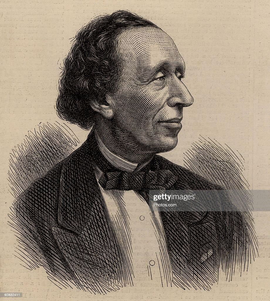 Portrait of Hans Christian Andersen : Stock Photo