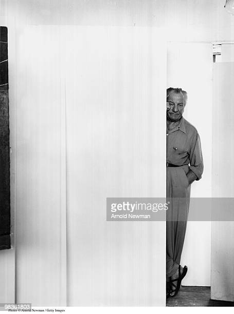 Portrait of Hans Hofmann German Abstract Expressionist painter September 1 1952 in Provincetown Massachusetts