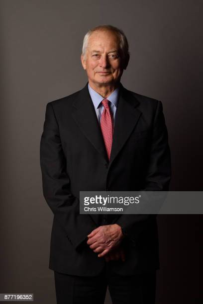 Portrait of HansAdam II Prince of Liechtenstein before addressing The Cambridge Union on November 21 2017 in Cambridge Cambridgeshire