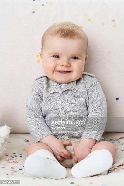 Portrait of happy baby boy