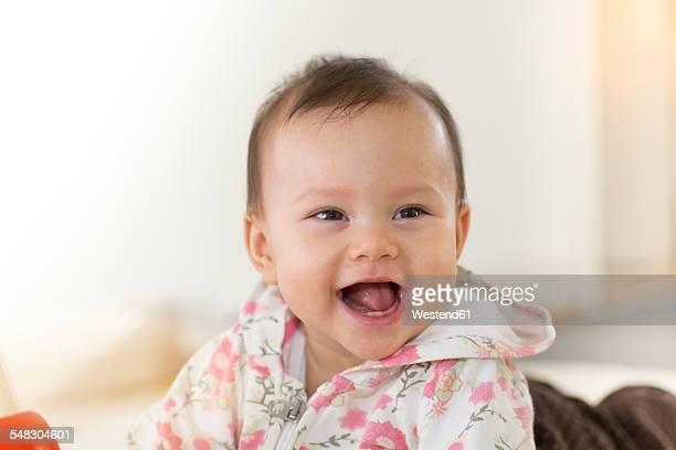 Portrait of happy baby girl