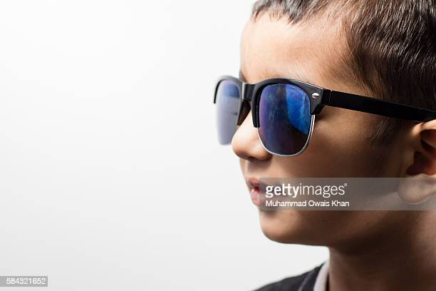 portrait of happy boy - cute pakistani boys stock photos and pictures