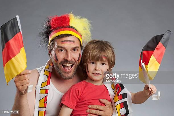 Portrait Of Happy German Football Fans