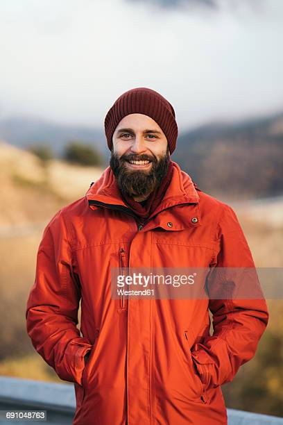 Portrait of happy hiker