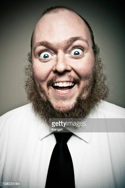 portrait of happy man - fat bald men stock pictures, royalty-free photos & images