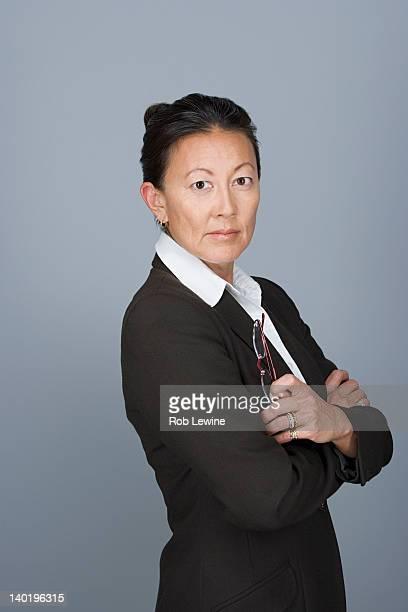 Portrait of happy mature businesswoman