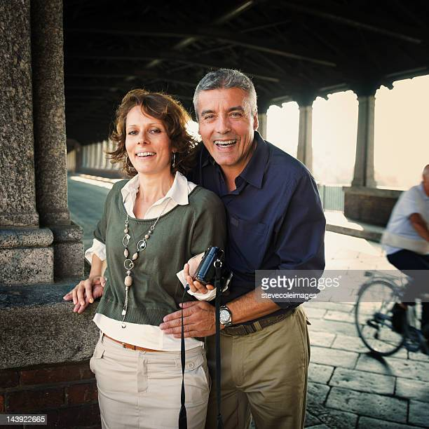 Portrait Of Happy Mature Couple Siteseeing