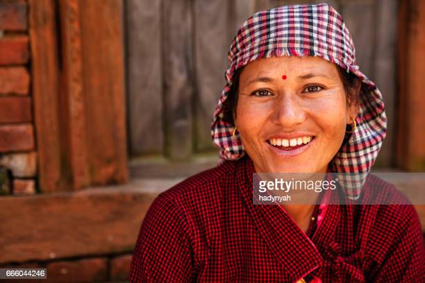 Portrait of happy Nepalese woman, Bhaktapur