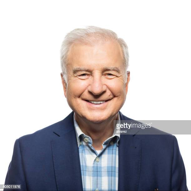 portrait of happy senior businessman - headshot stock pictures, royalty-free photos & images