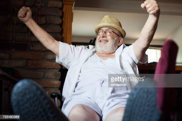 Portrait Of Happy Senior Man Indoors