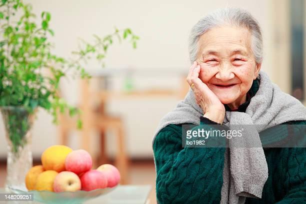Porträt von glücklichen senior Frau