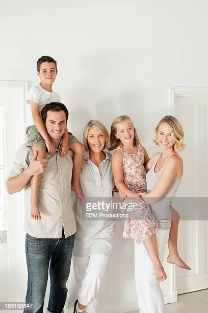 Portrait of happy three generation family