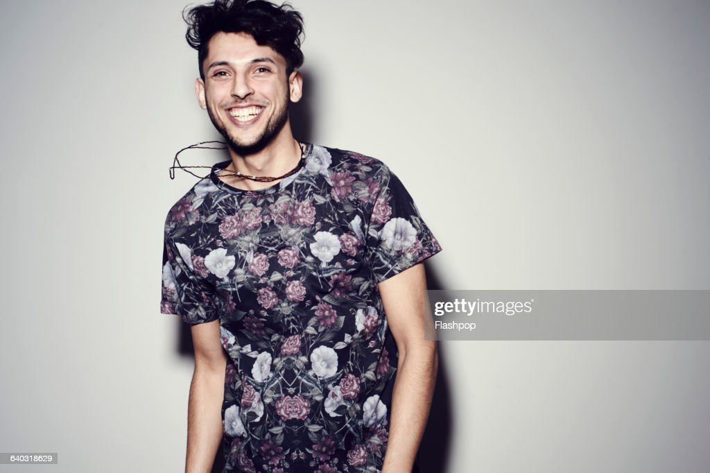 Portrait of happy young man : Stock-Foto