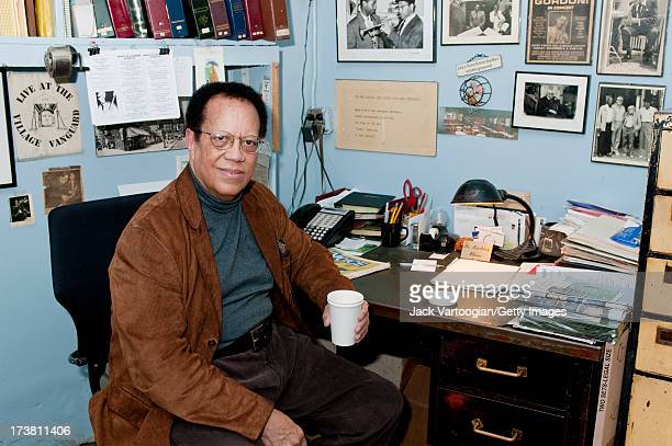 Portrait of Hard bop Jazz pianist Cedar Walton backstage on the first night of his annual twoweek Christmas holiday run at the Village Vanguard New...