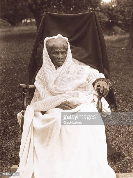 Portrait of Harriet Tubman at her home in Auburn New York toned photograph 1911