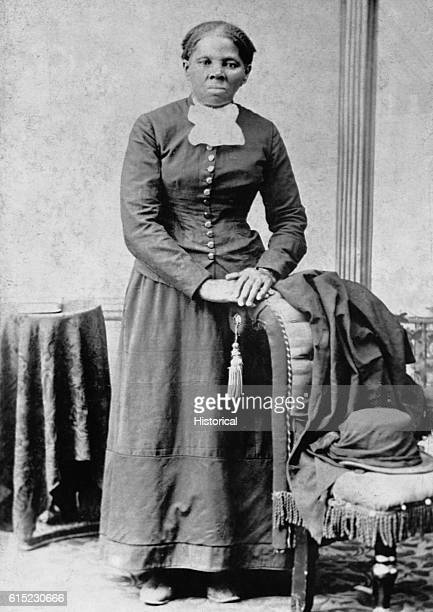A portrait of Harriet Tubman Tubman herself an escaped slave helped hundreds of slaves escape the South by means of the Underground Railroad She...