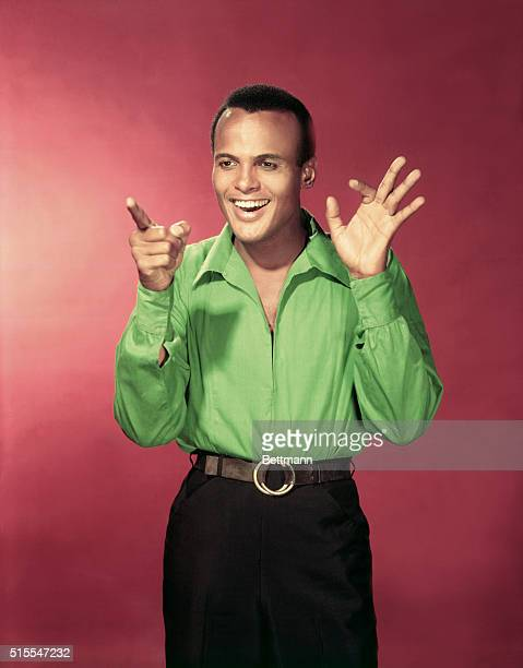 Portrait of Harry Belafonte, actor and singer.