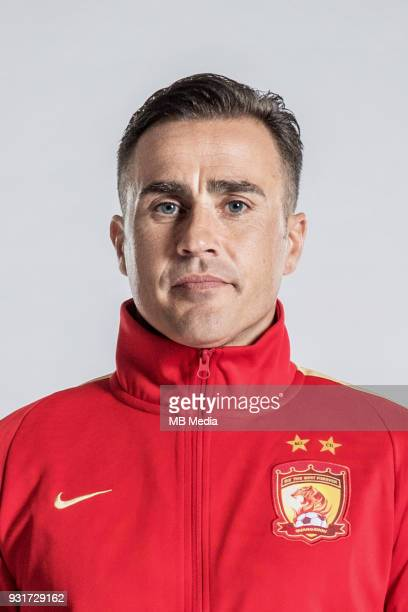 **EXCLUSIVE** Portrait of head coach Fabio Cannavaro of Guangzhou Evergrande Taobao FC for the 2018 Chinese Football Association Super League in...