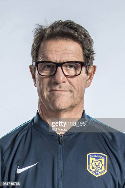 **EXCLUSIVE** Portrait of head coach Fabio Capello of Jiangsu Suning FC for the 2018 Chinese Football Association Super League in Nanjing city east...