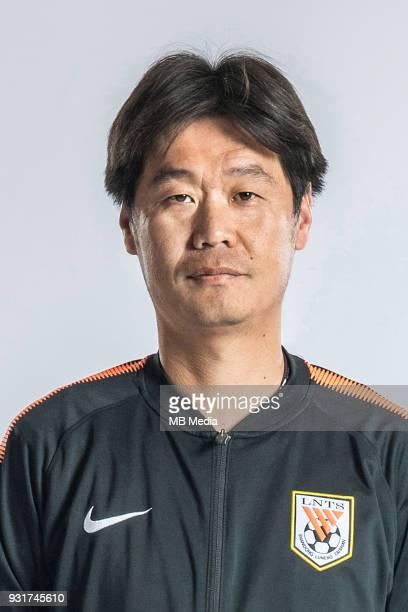 **EXCLUSIVE** Portrait of head coach Li Xiaopeng of Shandong Luneng Taishan FC for the 2018 Chinese Football Association Super League in Ji'nan city...