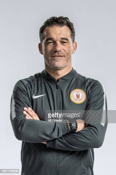 **EXCLUSIVE** Portrait of head coach Luis Garcia Plaza of Beijing Renhe FC for the 2018 Chinese Football Association Super League in Shanghai China...