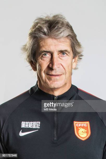 **EXCLUSIVE** Portrait of head coach Manuel Pellegrini of Hebei China Fortune FC for the 2018 Chinese Football Association Super League in Marbella...
