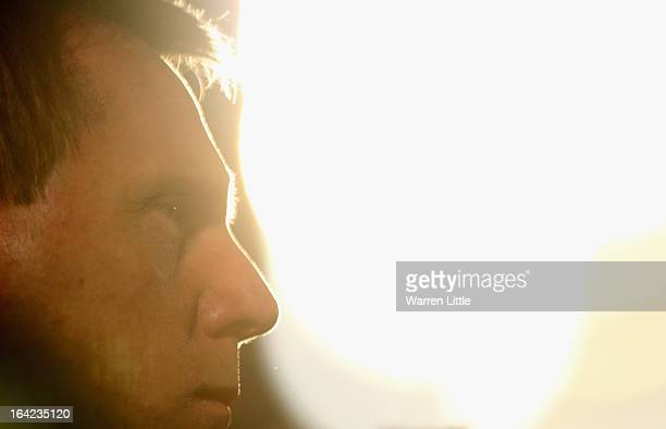 A portrait of Head Coach Stuart Pearce during the International match between England U21 and Romania U21 at Adams Park on March 21 2013 in High...