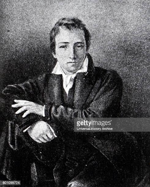 Portrait of Heinrich Heine a German poet journalist essayist and literary critic Dated 19th Century