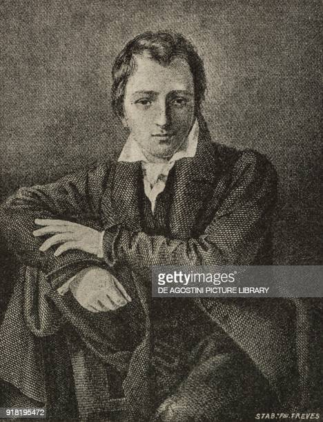 Portrait of Heinrich Heine German poet engraving after a painting by Moritz Daniel Oppenheim from L'Illustrazione Italiana Year XX No 13 March 26 1893
