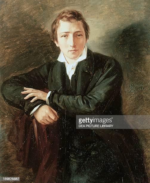 Portrait of Heinrich Heine German poet Painted in 1831 by Moritz Daniel Oppenheim Amburgo Hamburger Kunsthalle