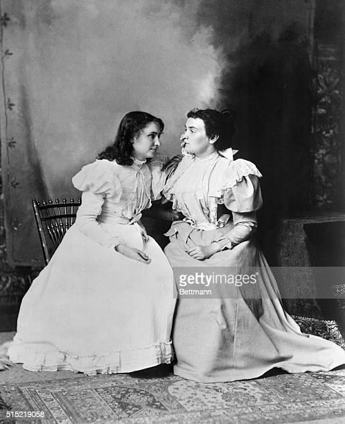 Portrait of Helen Keller and her teacher Anne Sullivan 1897