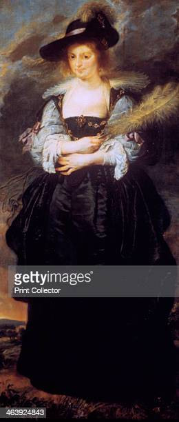 'Portrait of Helena Fourment' c163032 In 1630 Rubens married Helena Fourment daughter of a wealthy silk and tapestry merchant in the city of Antwerp
