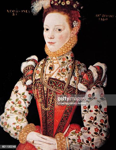 Portrait of Helena Marchioness of Northampton a Swedishborn noblewoman and Maid of Honour of Queen Elizabeth I of England Dated 16th Century