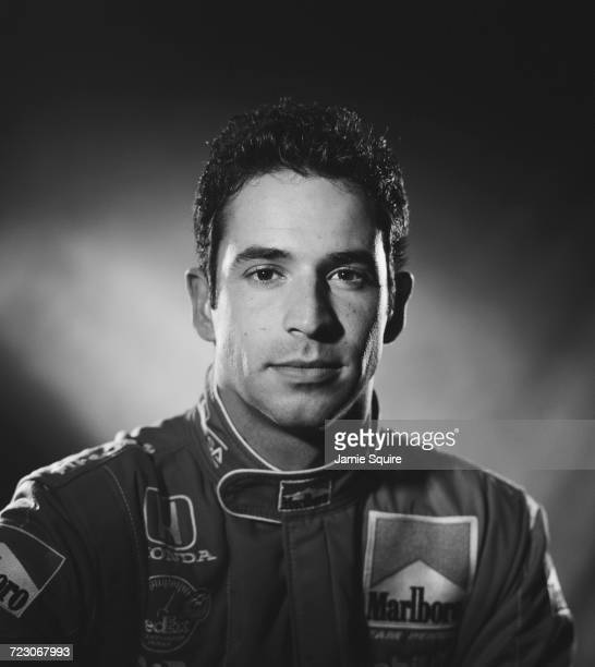Portrait of Helio Castroneves of Brazil, driver of the Team Penske Reynard 2KI Honda HRK during testing for the Championship Auto Racing Teams 2000...