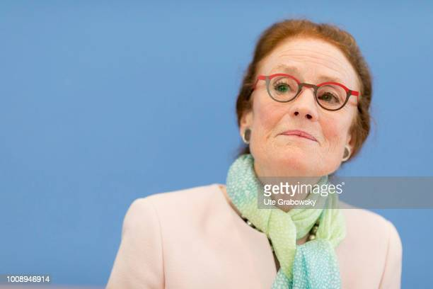 July 05: Portrait of Henrietta H. Fore, Executive Director UNICEF International in the Federal Press Conference on July 05, 2018 in BERLIN, GERMANY.